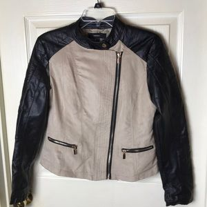 Forever 21 Moto Jacket Faux Suede and Leather